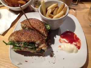 Falafel Deluxe Burger £10.50, Giraffe South Bank, London